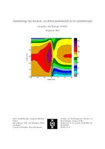 Aansluiting van fotonen- en elektronenbundels in de radiotherapie