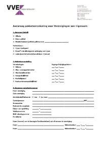 Aanvraag pakketverzekering voor Verenigingen van Eigenaars