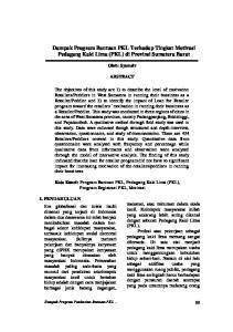 ABSTRACT. Kata Kunci: Program Bantuan PKL, Pedagang Kaki Lima (PKL), Program Registrasi PKL, Motivasi