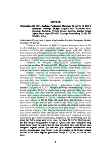 ABSTRAK Chomsatin, Siti Kegiatan Pembiasaan Membaca Al- Qur an Di SDN I Nologaten Ponorogo Skripsi
