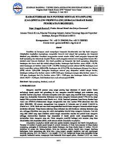Abstrak. dan komposisi 3 - ekosistem yang. mangrove yang. Calophyllum A.6-1