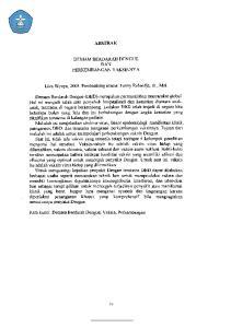 ABSTRAK DEMAM BERDARAH DENGUE DAN PERKEMBANGAN VAKSINNY A. Liva Wijaya, Pembimbing utama: Fanny Rahardja, dr., Msi