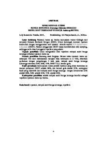 ABSTRAK. EFEK MINYAK ATSIRI BUNGA KENANGA (Cananga Odorata) SEBAGAI REPELLENT TERHADAP NYAMUK Aedes sp.betina