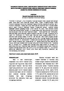 ABSTRAK Hasneli, Kasmiyetti, Hermita Bus Umar (Politeknik Kesehatan Kemenkes Padang)