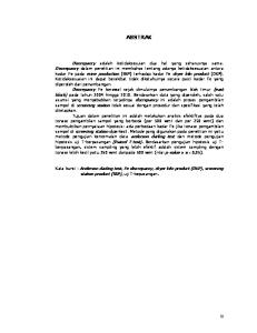 ABSTRAK. Kata kunci : Anderson darling test, Fe discrepancy, dryer kiln product (DKP), screening station product (SSP), uji T-bepasangan