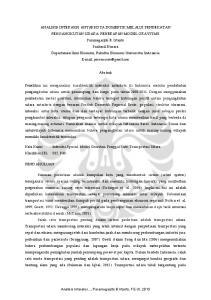Abstrak. Kata Kunci : Interaksi Spasial; Model Gravitasi; Penggal Rute; Transportasi Udara. Klasifikasi JEL : R12, R40