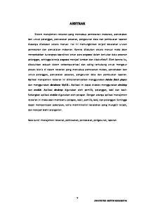 ABSTRAK. Kata kunci: manajemen restoran, pemesanan, pencatatan, pengaturan, laporan. v UNIVERSITAS KRISTEN MARANATHA