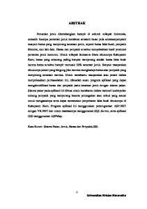 ABSTRAK. Kata Kunci : Sistem Pakar, Jeruk, Hama dan Penyakit,GIS. iii Universitas Kristen Maranatha