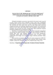 ABSTRAK PENGETAHUAN IBU PRIMIGRAVIDA TENTANG PERUBAHAN FISIOLOGIS PADA MASA KEHAMILAN DI BPS CH. SUDILAH GANJAR AGUNG KOTA METRO TAHUN 2007