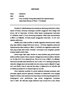 ABSTRAKSI. Nama : Jamaluddin NIM : Judul : Teori Al-Gazāly Tentang Hadis Maqbūl Dan Implementasinya Dalam Kitab Fikihnya Al-Wasīt Fī Al-Mazhab