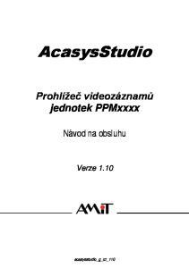 AcasysStudio Prohlížeč videozáznamů jednotek PPMxxxx