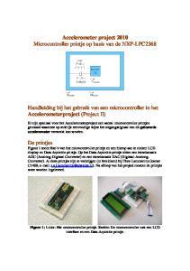 Accelerometer project 2010 Microcontroller printje op basis van de NXP-LPC2368