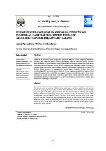 Accounting Analysis Journal