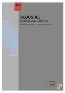 ACOUSTICS HUMAN HEARING, CHAPTER 12