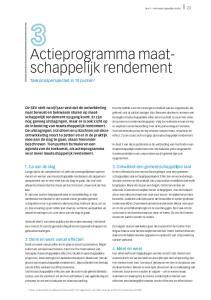 Actieprogramma maatschappelijk