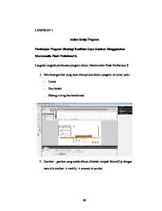 Action Script Program. Pembuatan Program Simulagi Koefisien Gaya Gesekan Menggunakan