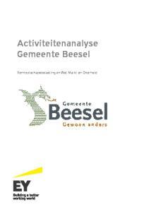 Activiteitenanalyse Gemeente Beesel. Vennootschapsbelasting en Wet Markt en Overheid