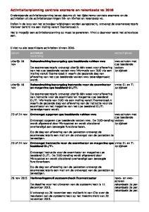 Activiteitenplanning centrale examens en rekentoets vo 2016