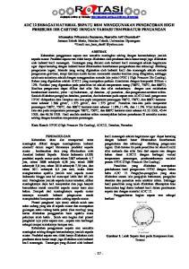 ADC 12 SEBAGAI MATERIAL SEPATU REM MENGGUNAKAN PENGECORAN HIGH PRESSURE DIE CASTING DENGAN VARIASI TEMPERATUR PENUANGAN