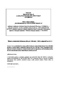 Žádost o dodatečné informace dle ust. 49 odst. 1 ZVZ a odpověď na ni č. 4