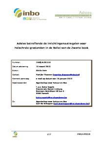 Advies betreffende de inrichtingsmaatregelen voor heischrale graslanden in de Vallei van de Zwarte beek