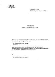 AFDELING BESTUURSRECHTSPRAAK. Uitspraak met toepassing van artikel 8:54, eerste lid, van de Algemene wet bestuursrecht op het hoger beroep van: