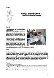 Africa Wood Grow Ltd. Dream about a tree and start with a seed