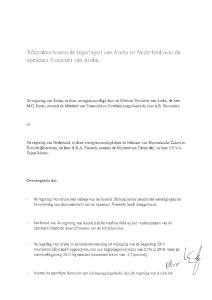 Afspraken tussen de regeringen van Aruba en Nederland over de openbare financiën van Aruba