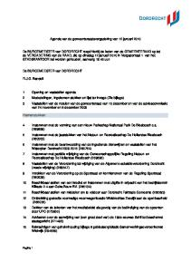 Agenda van de gemeenteraadsvergadering van 12 januari 2010