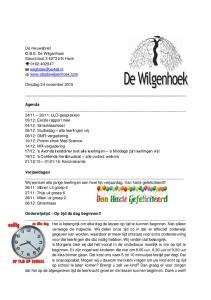 Agenda Verjaardagen Onderwijstijd Op tijd de dag beginnen!!