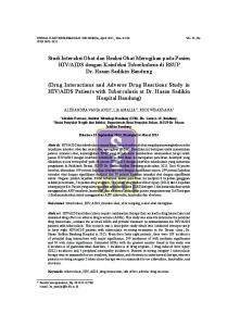 AIDS dengan Koinfeksi Tuberkulosis di RSUP Dr. Hasan Sadikin Bandung