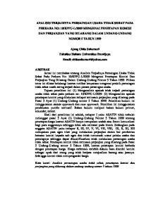 Ajeng Chita Sekarsari Fakultas Hukum Universitas Brawijaya