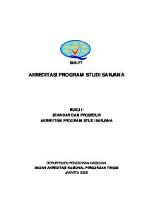 AKREDITASI PROGRAM STUDI SARJANA