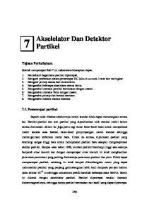 Akselelator Dan Detektor Partikel