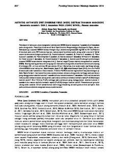 AKTIVITAS ANTI-WHITE SPOT SYNDROME VIRUS (WSSV) EKSTRAK TANAMAN MANGROVE Sonneratia caseolaris DAN S. lanceolata PADA UDANG WINDU, Penaeus monodon