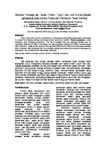 Aktivitas Protease dan Kadar Protein Tubuh Ikan Lele Dumbo (Clarias gariepinus) pada Kondisi Puasa dan Pemberian Pakan Kembali