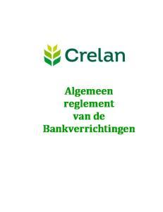 Algemeen reglement van de Bankverrichtingen