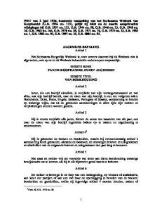 ALGEMENE BEPALING Artikel 1
