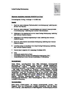 Algemene vergadering woensdag om 20 uur. Ontmoetingshuis De Brug, Hertshage 11-19, 9300 Aalst