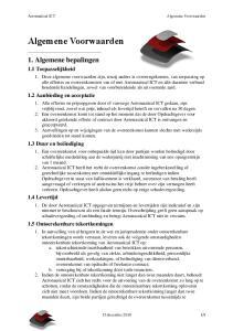 Algemene Voorwaarden. 1. Algemene bepalingen. 1.1 Toepasselijkheid. 1.2 Aanbieding en acceptatie. 1.3 Duur en beëindiging. 1
