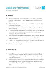 Algemene voorwaarden. 1. Definities. 2. Toepasselijkheid. Pepijn Koning Multimedia. Versie geldig vanaf 9 juli 2012