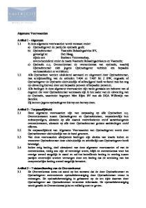 Algemene Voorwaarden Artikel 1 - Algemeen Artikel 2 - Toepasselijkheid Artikel 3 Totstandkoming van de Overeenkomst
