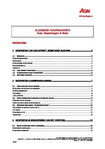 ALGEMENE VOORWAARDEN Auto, Bestelwagen & Moto