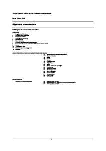 Algemene voorwaarden TOTAALPAKKET ZAKELIJK ALGEMENE VOORWAARDEN. Model TPZ-AV Indeling van de voorwaarden per artikel