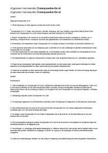 Algemene voorwaarden Zonnepanelen-fnt.nl Algemene voorwaarden Zonnepanelen-fnt.nl