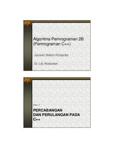 Algoritma Pemrograman 2B (Pemrograman C++)