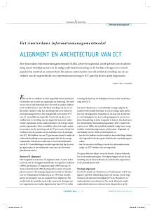 Alignment en architectuur van ICT