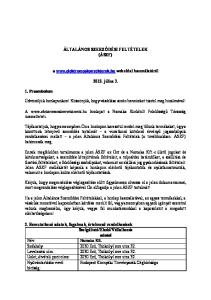 ÁLTALÁNOS SZERZŐDÉSI FELTÉTELEK (ÁSZF) a  weboldal használatáról július 3