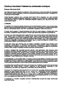 Általános Szerződési Feltételek és adatkezelési szabályzat