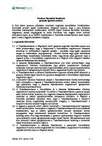 Általános Szerződési Szabályok garancia ügyletek esetében